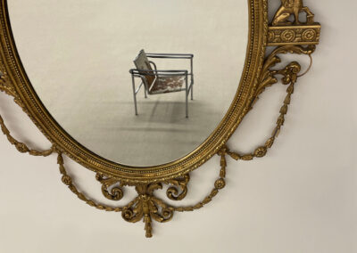 Antique Gilt Mirror & Le Corbusier